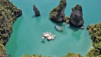 سینما آرکیپلاگو؛ اوله شیرِن در سال 2014 این سازه را طراحی کرد. صخرههای شبیه به برج، پوشش گیاهی و آب زلال جزیره کودوِ تایلند اطراف این سینما را احاطه کرده است. طراحی این مجموعه مطابق با جشنواره سالانه فیلم تایلند «Film on the Rocks Yao Noi Festival» بوده و فیلمساز تایلندی «آپیچاتپونپ» همراه با بازیگر بریتانیایی «تیلدا سوینتون» با آن همکاری دارند. شیرن از محیط اطراف برای ساخت آن استفاده کرد.