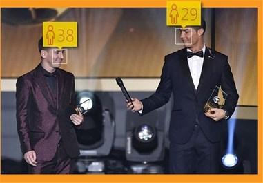 لیونل مسی 27 ساله و کریستیانو رونالدو 30 ساله