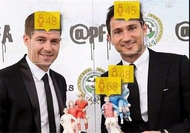 فرانک لمپارد 36 ساله و استیون جرارد 34 ساله