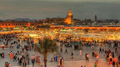 نمایی از شهر مراکش
