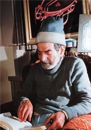چهره استاد سید محمدحسین شهریار در کهنسالی/عکس از استاد علی صادق نخجوانی