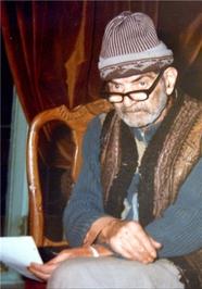 چهره استاد سید محمدحسین شهریار در کهنسالی