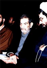حضور استاد سید محمدحسین شهریار درمراسم سالگرد پیروزی انقلاب اسلامی در تبریز