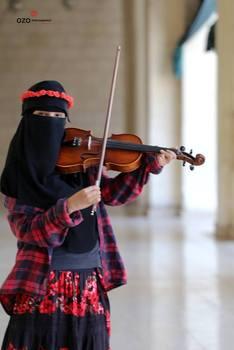 دختر نوازنده دختر مصری