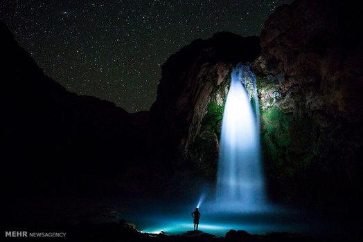 عکاسی شبانه از یک آبشار در ایالت آریزونا آمریکا (National Geographic)