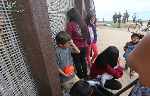 تصاویر : بازدید دونالد ترامپ از دیوار بین آمریکا و مکزیک