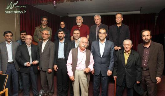 عکس یادگاری با جمعی از بازیگران نامدار کشور