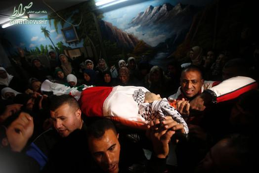 تشییع پیکر شهید 32 ساله فلسطینی