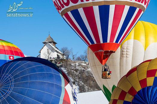 رقابت بین المللی پرواز بالن ها در سوئیس