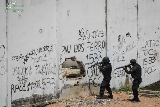 عملیات نیروهای امنیتی برزیل پس از شورش در یکی از زندانهای این کشور