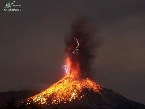 فوران آتشفشان در مکزیک