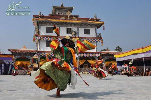 رقص راهبان بودایی در تبت