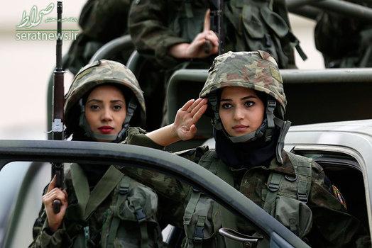 زنان جوان گارد ریاست جمهوری فلسطین