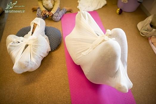 روش درمانی عجیب در ژاپن , بقچه پیچ کردن برای درمان , روش درمانی اوتونوماکی , پارچهپیچ کردن بزرگسالان