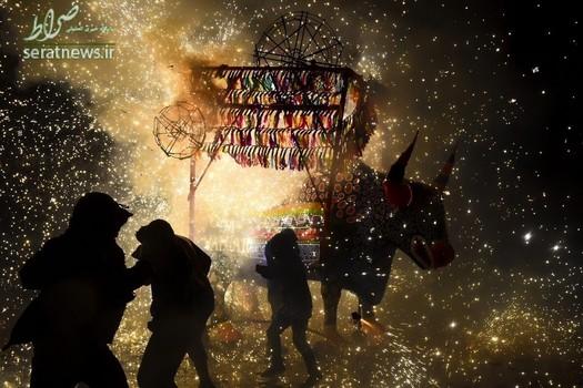 آتش بازی سنتی در مکزیکو سیتی