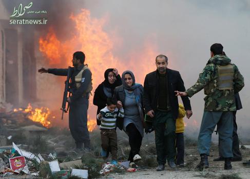 فرار از میان زبانه های آتش انفجار کابل
