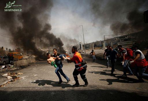 زخمی شدن یک نوجوان فلسطینی در جریان تظاهرات همبستگی با زندانیان