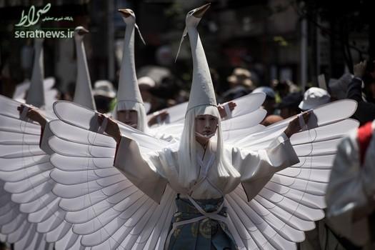 شرکت کنندگان در جشنواره سانجا در توکیوی ژاپن