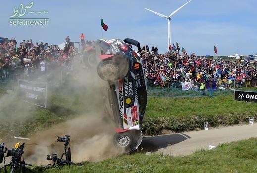 سرنگونی خودروی راننده فرانسوی در مسابقات اتومبیلرانی شمال پرتغال