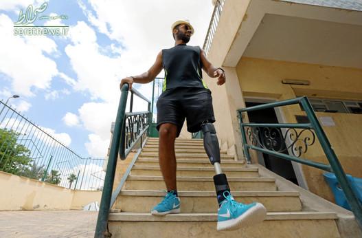 عمر حجازی شناگر مصری با پای مصنوعی