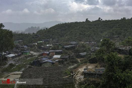 تصاویر/ کمپ پناهجویان در مرز میانمار و بنگلادش