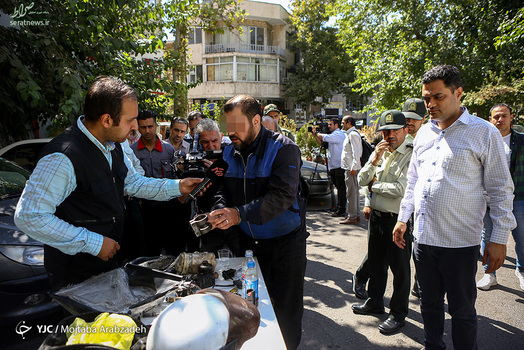 تصاویر/ دستگیری کلاهبردار با پوشش امدادخودرو