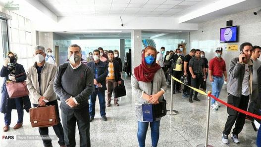 غربالگری در فرودگاه بندرعباس